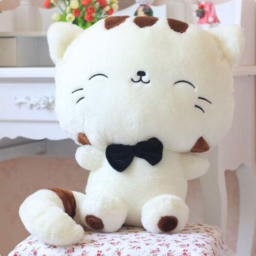 """New 18/"""" 45CM Include Tail Cute Plush Stuffed Toys Cushion Fortune Cat Doll"""