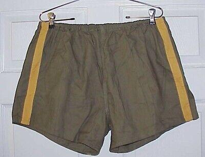 "Mens Vintage Style Sports PT Gym Shorts Poly Cotton Unlined Size L 36-38/"" White"