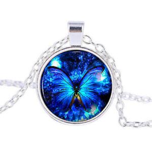Cabochon Glass Tibet Silver Locket Pendant Necklace