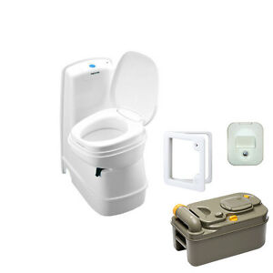 thetford c200 cwe cassette toilet electric flush swivel bowl door 3 waterfill ebay. Black Bedroom Furniture Sets. Home Design Ideas