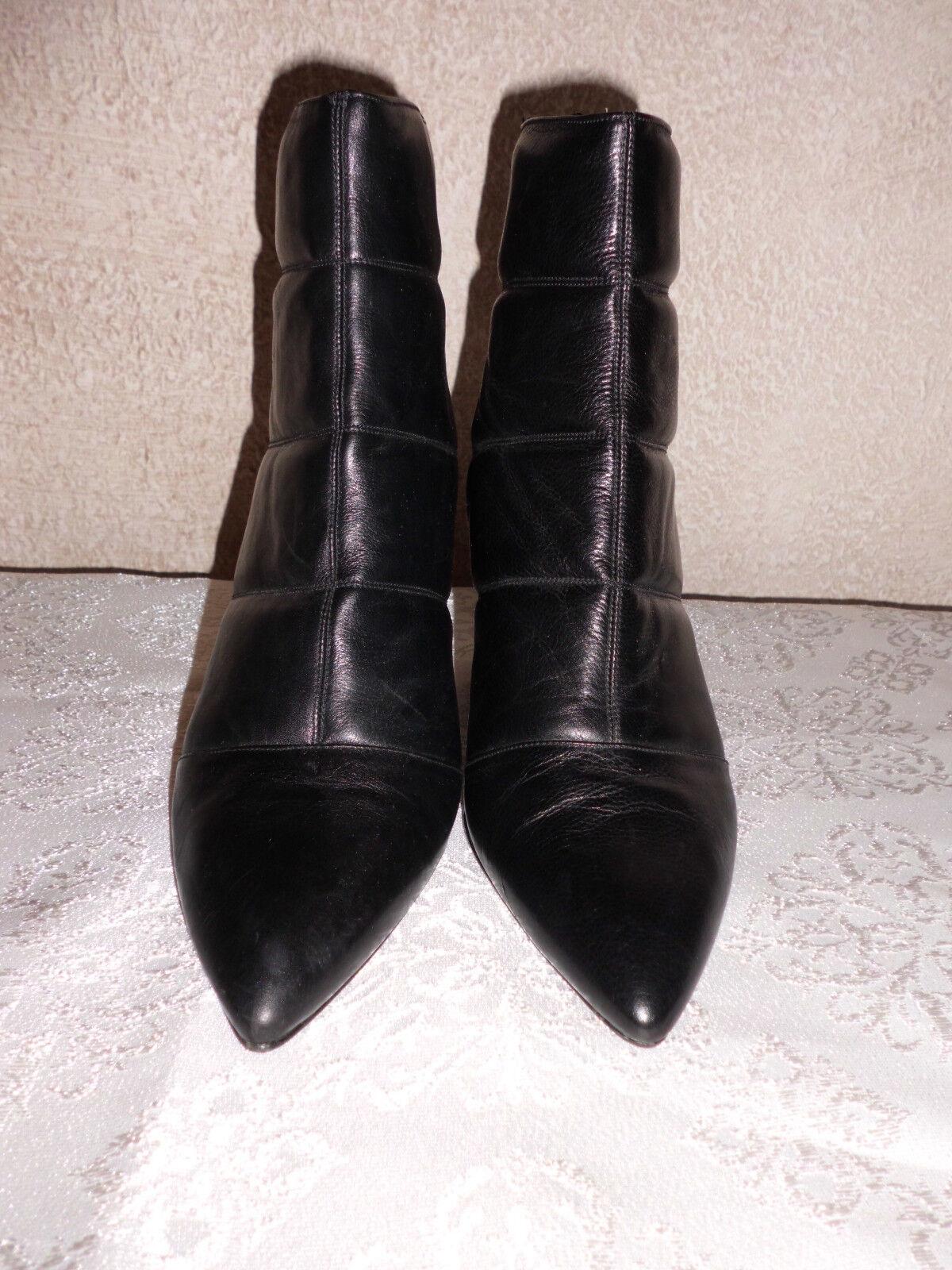 Damen Stiefeletten Echtleder made in Spain Gr.  40 schwarz   Madeleine