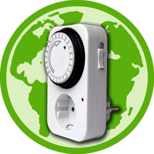 Mécanique 24 H Minuteur Interrupteur réglable par min quart Energy Saving partie sur