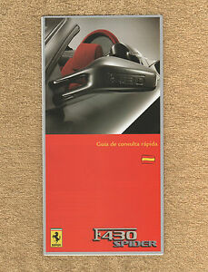 Ferrari-F430-Spider-RARE-Owners-Handbook-Supplement-2005-Spanish-Text