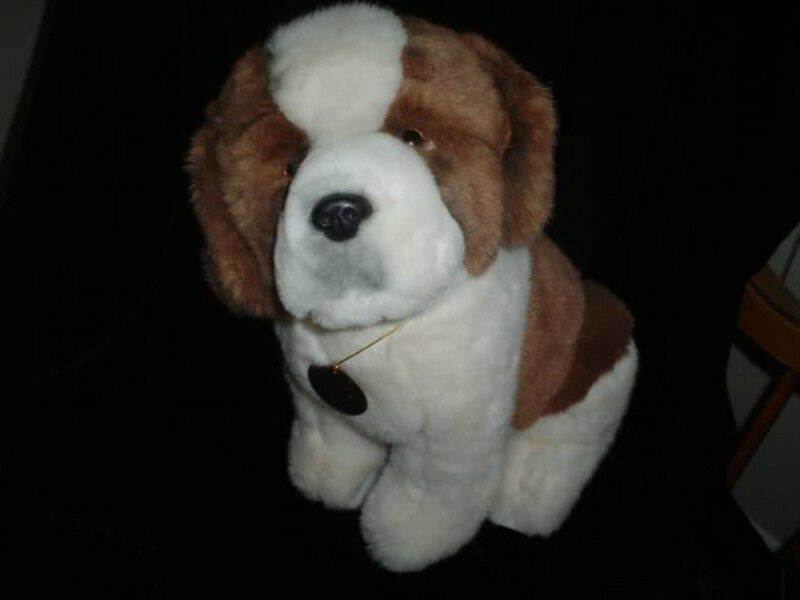 Dakin St Bernard Dog Plush Classique Collection 14 Inch Large Vintage 1988