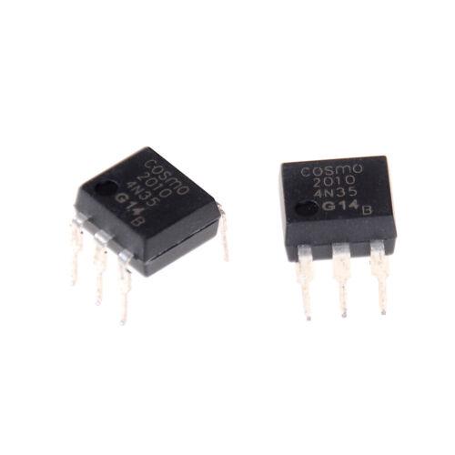 10Pcs 4N35 FSC Optocouplers Phototransistor 30V DIP6 IC  OJ