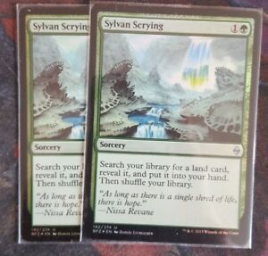 Details about Mtg sylvan scrying foil x 2 great condition