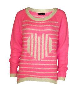 Women-s-Wallis-New-Fluffy-Pink-Knit-Jumper-UK-Sizes-10-12-14-16
