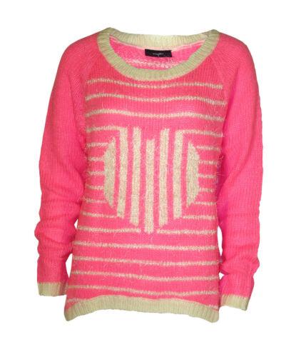 Women`s Wallis New Fluffy Pink Knit Jumper UK Sizes 10-12-14-16