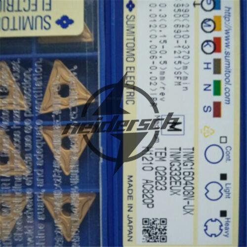SUMITOMO 10pcs TNMG160408N-UX AC820P TNMG332EUX carbide inserts NEW