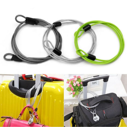 """39/"""" Durable Cable Lock Security Loop Scooter U-Lock Cycling Accessory Black"""