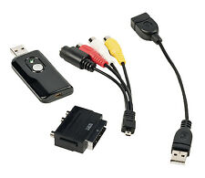 ADAPTATEUR CONVERTISSEUR CLE USB CARTE ACQUISITION VIDEO AUDIO RCA VHS CAMESCOPE