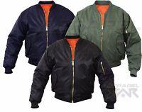 MA1 Mens Army Pilot Biker Bomber Fly Military Security Harrington Jacket Coat MA