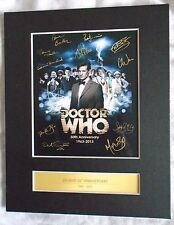 Doctor Who 50th Anniversary Signed A4 Print