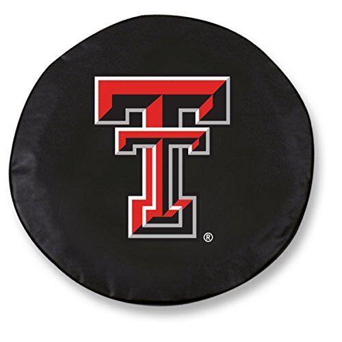 Holland Bar Stool TCD10TXTECHBK 30.75 X 10 Texas Tech University Tire Cover Blac