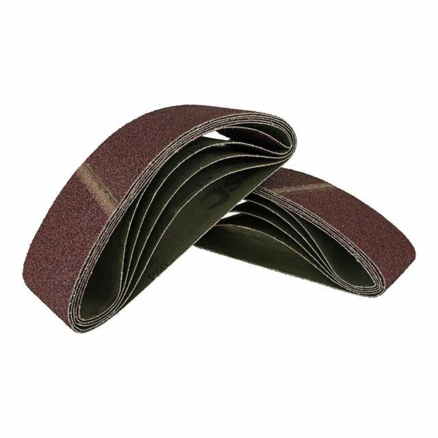 10 Stück Gewebe-Schleifbänder 75 x 533 mm K40 Schleifpapier Schleifband Bänder