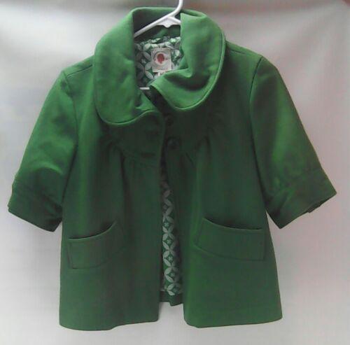 Peacoat en Swing Anthropologie mélangée laine taille Swing vert Veste M qnBfxftYU