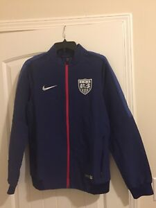 54bd2ce0c4 NEW NIKE MEN S US SOCCER FULL ZIP JACKET US NATIONAL TEAM Sz Small ...