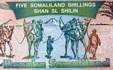 SOMALILAND Billet NEUF de  5 SHILLINGS PICK # 1  UNC.