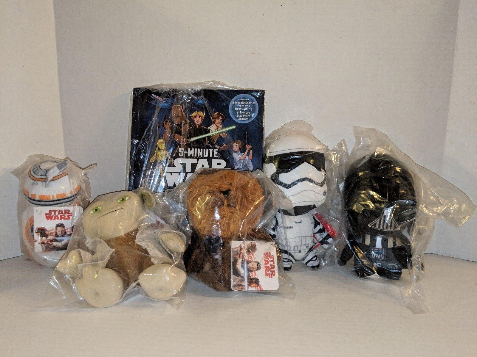 Kohl's Cares STAR WARS Lot  of 5 5 5 Plush Toys + 1 Book 06b95b