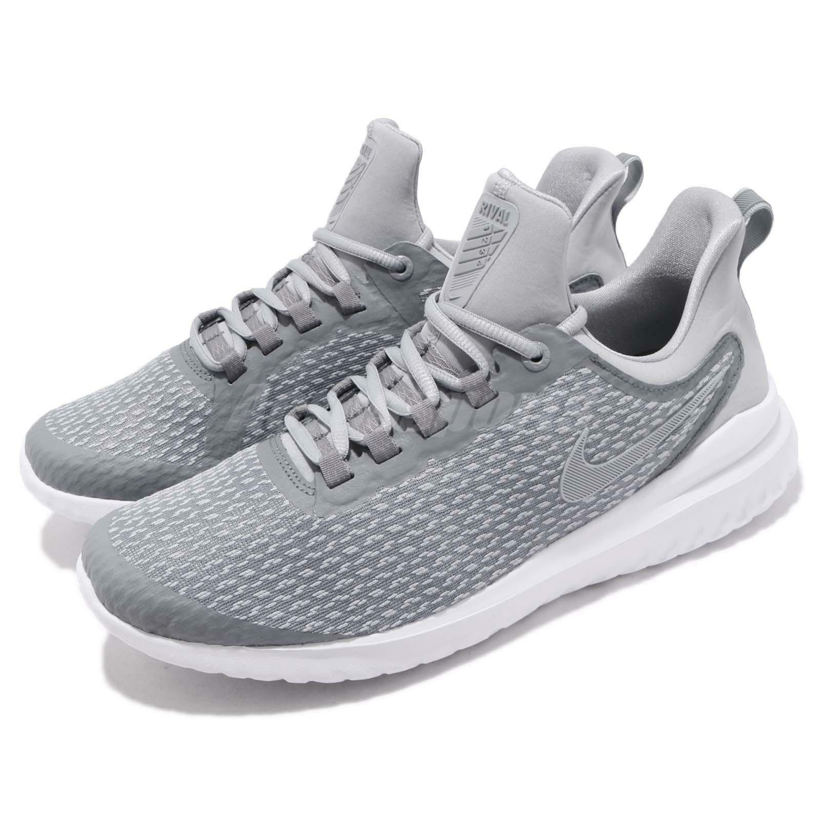Nike Renew Rival Stealth  Gris  blanc homme fonctionnement Casual chaussures Sneakers AA7400-006