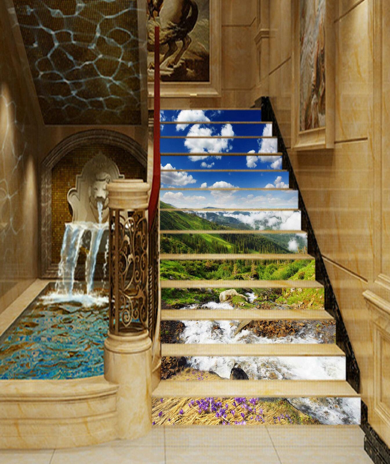 3D Natur Ansicht 47 Stair Risers Dekoration Fototapete Vinyl Aufkleber Tapete DE