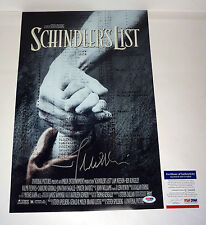 JOHN WILLIAMS SCHINDLERS LIST SIGNED AUTOGRAPH MOVIE POSTER PROOF PSA/DNA COA