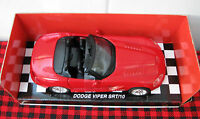 Ray Dodge Viper Srt/10 1:32 Scale..convertible..mint..nib..really Red