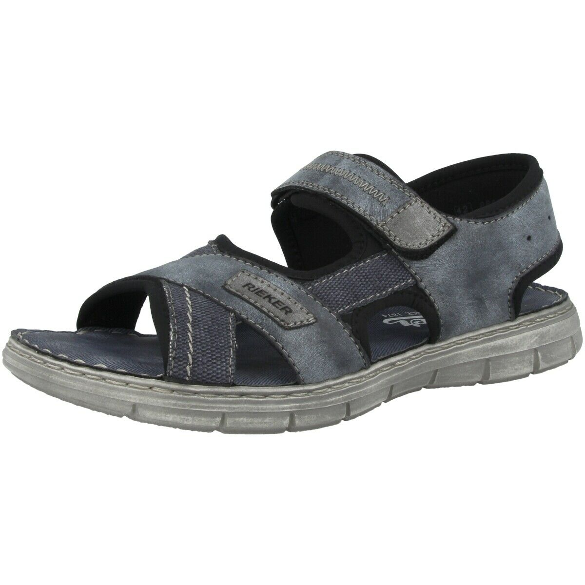 Rieker Fabric-SERBIA-SERBIA-Scuba High-heeled Sandals Anti-Stress shoes