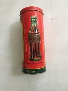 COCA-COLA-COKE-SODA-TIN-BOX-CO-RETRO-DINER-METAL-STRAW-HOLDER-WITH-STRAWS