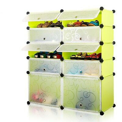 Tri- Plastic Shoe Rack 10 Layers Double-Lkl-209