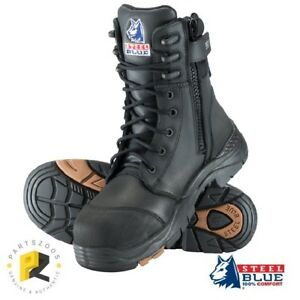 b7a0656853c Details about Steel Blue Tindal Zip Work Safety Boots Airport Friendly  617561 Composite Toe