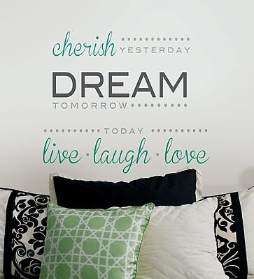 Wallpops Cherish Dream Live Laugh Love