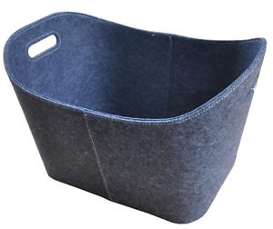 holzkorb aus filz grau filzkorb xl brennholz korb aus filz ebay. Black Bedroom Furniture Sets. Home Design Ideas