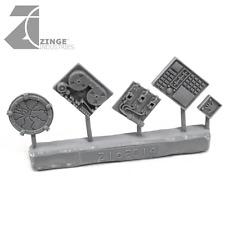 Zinge Industries Computer Equipment and Hand Scanner Set of 5 Scenery S-COM01