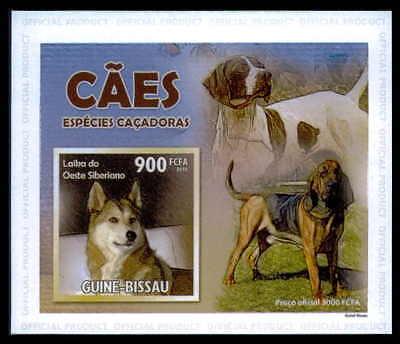 Guinea-bissau Epreuve De Luxe Jagdhunde Hund Ente Dogs Ducks Deluxe Sheet Dr32