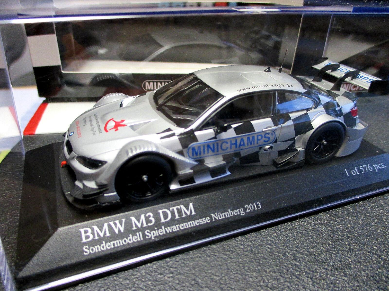 1 43 BMW m3 DTM jouets-Foire-modèle Nuremberg 2013 Minichamps MINT + rar