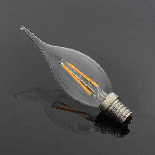 TSLEEN E14 4//8W COB LED RETRO EDISON FILAMENT BULB VINTAGE CANDLE TYPE LAMP F8E