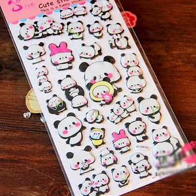 Super Cute kawaii Panda Scrapbook DIY Craft Diary Photo Deco Kid Sticker Seal