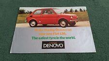 1975 1976 FIAT 126 DUNLOP DENOVO RUN FLAT TYRES - UK BROCHURE