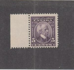 CANADA-MK2955-144-VF-MLH-5cts-1927-SIR-WILFRED-LAURIER-W-MARGIN-VIOLET