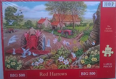 500 PIECE HOUSE OF PUZZLES JIGSAW PUZZLE RED HARROWS ! XL PIECES