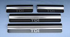 Volkswagen Golf Mk5 TDi Silver Steel Kick Plate Car Door Sill Protectors Set K16