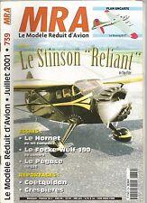 """MRA N°739 PLAN : LE BOEING B-17 / LE STINSON """"RELIANT"""" / LE HORNET / FOCKE-WULF"""