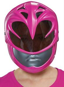 Child Pink Power Ranger 2017 Movie Vacuform Face Mask Costume