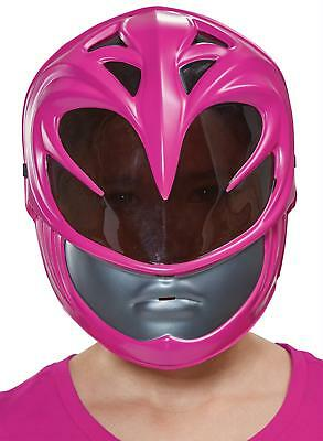 CHILD PINK POWER RANGER 2017 MOVIE VACUFORM FACE MASK COSTUME DG19674