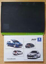 Case // Wallet PEUGEOT 207 /& 207 SW Owners Manual // Handbook 2005-2009