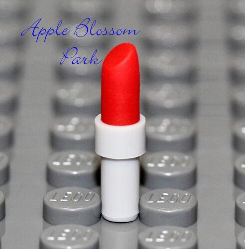 Girl Friends Minifigure Lip Utensil NEW Lego Female Minifig Dark RED LIPSTICK