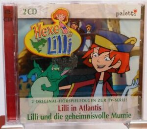 HEXE-LILLI-2-CDs-Hoerspiele-Kinder-In-Atlantis-Die-geheimnisvolle-Mumie
