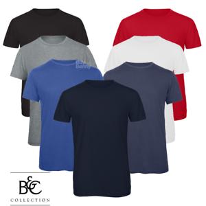 B/&C Uomo T-Shirt Girocollo Semplice T-shirt Triblend Casual Eleganti Stile S-3XL NUOVO