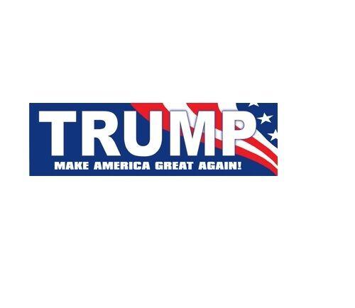 Donald Trump Make America Great Again American Flag Bumper Sticker